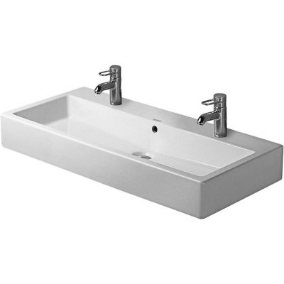 Duravit Vero umywalka 100x47 cm szlifowana prostokątna biała 0454100072