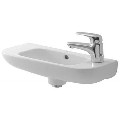 Duravit D-Code umywalka 50x22 cm ścienna półokrągła biała 07065000082