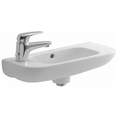 Duravit D-Code umywalka 50x22 cm ścienna półokrągła biała 07065000092
