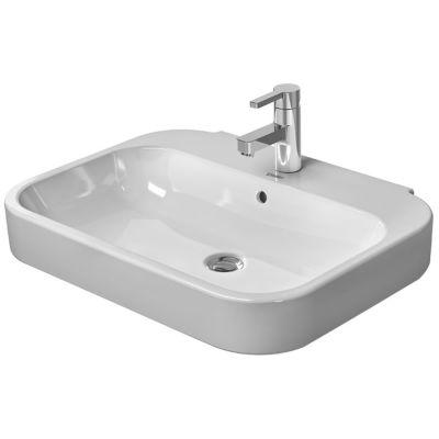 Duravit Happy D.2 umywalka 60x47,5 cm ścienna prostokątna WonderGliss biała 23166000601