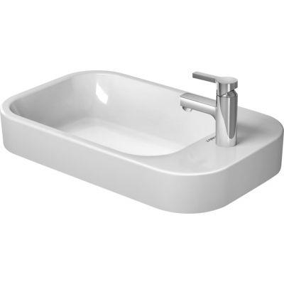 Duravit Happy D.2 umywalka 65x40 cm nablatowa prostokątna biała 2317650000