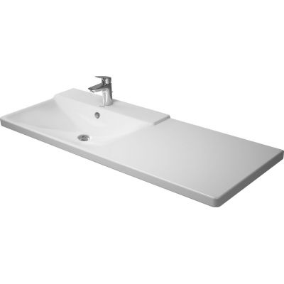 Duravit P3 Comforts umywalka 125x49,5 cm prostokątna lewa WonderGliss biała 23331200001
