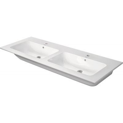 Duravit Me by Starck umywalka 130x49 cm podwójna prostokątna biała 2336130000