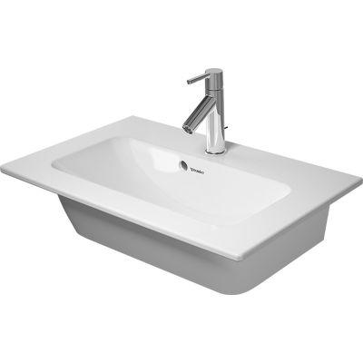 Duravit ME by Starck Compact umywalka 63x40 cm meblowa prostokątna WonderGliss biała 23426300001