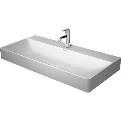 Duravit DuraSquare umywalka 100x47 cm szlifowana prostokątna biała 2353100071