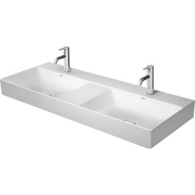 Duravit DuraSquare umywalka 120x47 cm prostokątna meblowa podwójna WonderGliss biała 23531200701