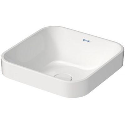 Duravit Happy D.2 Plus umywalka 40x40 cm nablatowa szlifowana kwadratowa biała 2359400000