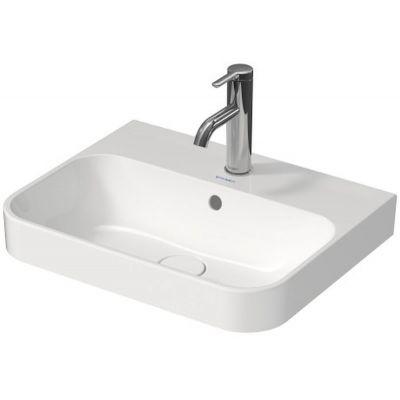 Duravit Happy D.2 Plus umywalka 50x40 cm nablatowa szlifowana prostokątna biała 2360500000