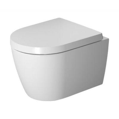 Zestaw Duravit ME by Starck miska WC wisząca Rimless HygieneGlaze z deską wolnoopadającą biały (2530092000, 0020190000)