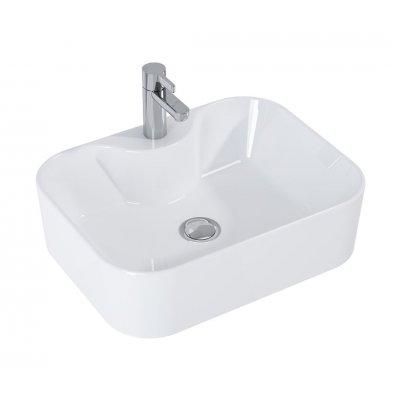 Elita Fiona umywalka 48x36 cm nablatowa prostokątna biała 145023