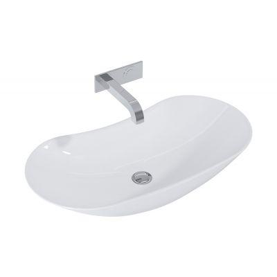 Elita Piato umywalka 73x38 cm nablatowa owalna biała 145041