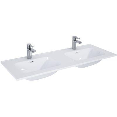 Elita Skappa umywalka 120x46 cm meblowa podwójna prostokątna biała 145875