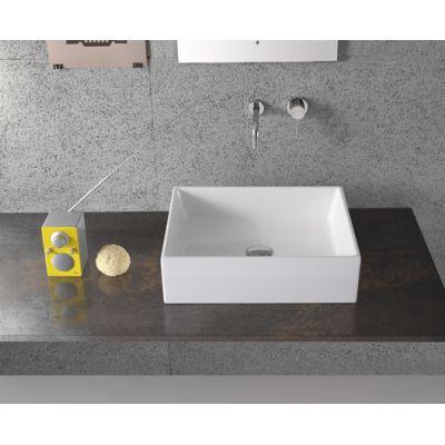 Globo Forty3 umywalka 50x37 cm nablatowa biała FO050.BI