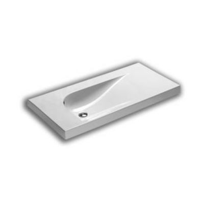 Hatria Grandangolo umywalka 150x50 cm biała Y0V801