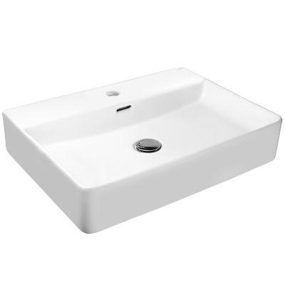 Hagser Emma umywalka 59x43 cm nablatowa prostokątna biała HGR3000041
