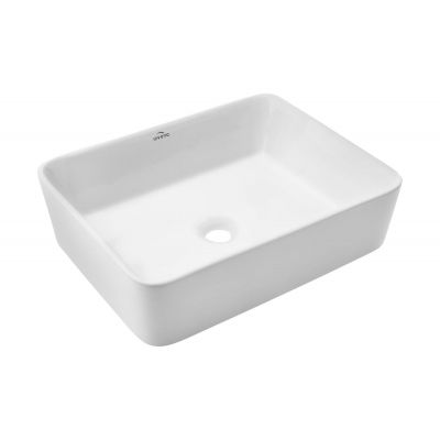Invena Nyks umywalka 47,5x37,5 cm nablatowa biała CE-11-001