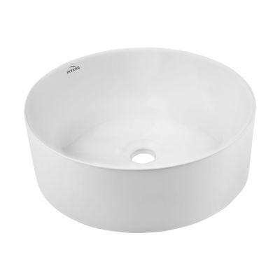 Invena Keto umywalka 42 cm nablatowa okrągła biała CE-14-001