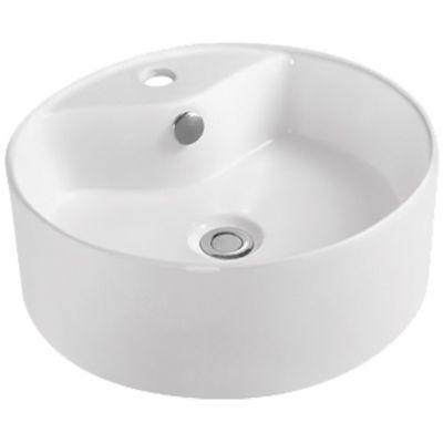 Invena Rondi umywalka 41 cm okrągła nablatowa biała CE-20-001