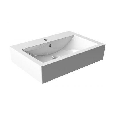 Kfa Orne 60 umywalka 60x43 cm nablatowa prostokątna biała 1610-584-060