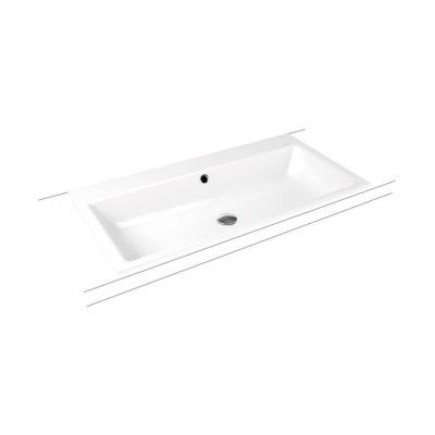 Kaldewei Puro umywalka 90x46 cm wpuszczana prostokątna model 3152 biała 900206003001
