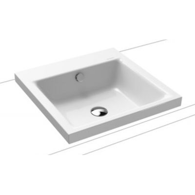 Kaldewei Puro umywalka 46 cm nablatowa kwadratowa model 3153 biała 900306003001