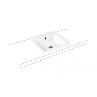 Kaldewei Puro umywalka 46 cm nablatowa kwadratowa model 3153 biała 900306013001