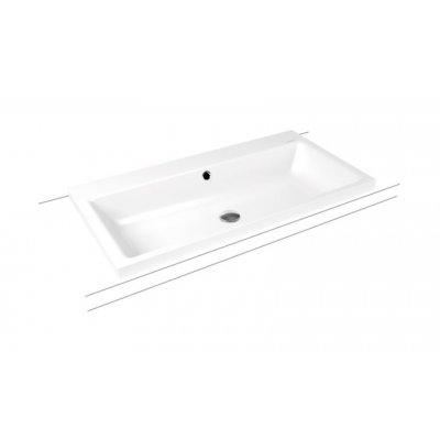 Kaldewei Puro umywalka 90x46 cm nablatowa prostokątna model 3155 biała 900506013001