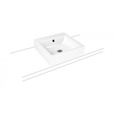 Kaldewei Puro umywalka 46 cm nablatowa kwadratowa model 3156 biała 900606013001