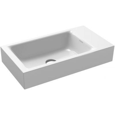 Kaldewei Puro umywalka 55x30 cm ścienna prostokątna model 3162 prawa biała 901206303001