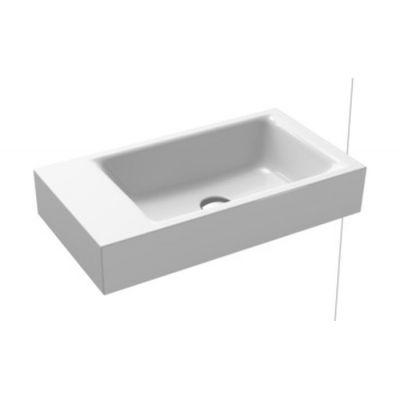 Kaldewei Puro umywalka 55x30 cm ścienna prostokątna model 3162 lewa biała 901206433001