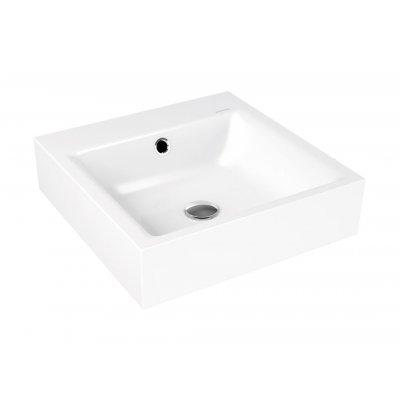 Kaldewei Puro umywalka 46 cm ścienna kwadratowa model 3163 biała 901306013001