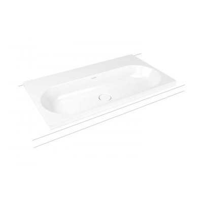 Kaldewei Centro umywalka 90x50 cm nablatowa prostokątna model 3056 biała 902906013001