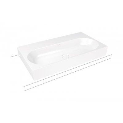 Kaldewei Centro umywalka 90x50 cm nablatowa prostokątna model 3058 biała 903106013001