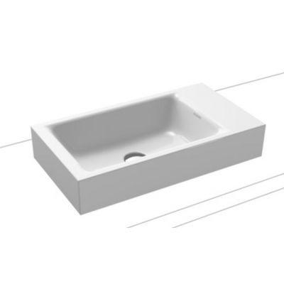 Kaldewei Puro umywalka 55x30 cm nablatowa prostokątna model 3166 biała 906906003001