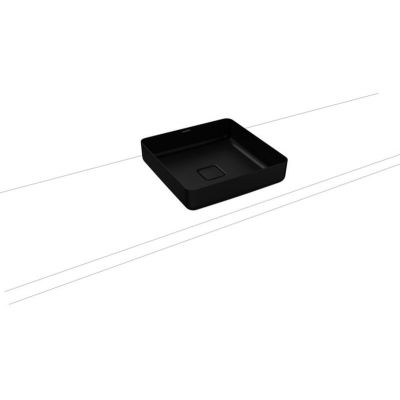 Kaldewei Miena umywalka 40x40 cm nablatowa kwadratowa model 3184 czarny lava mat 909506003717