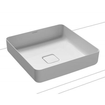 Kaldewei Miena umywalka nablatowa 40 cm kwadratowa model 3184 stalowa biała 909506003001