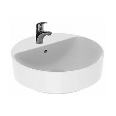 Koło Variform umywalka 45 cm nablatowa okrągła biała 500.769.01.6