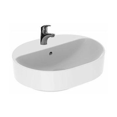 Koło Variform umywalka 50x40 cm nablatowa owalna biała 500.775.01.6