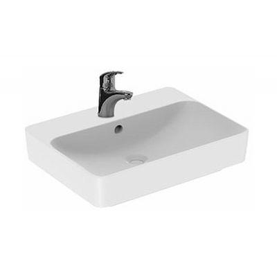 Koło Variform umywalka 60x45 cm nablatowa prostokątna biała 500.780.01.6