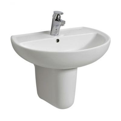 Koło Rekord umywalka 55x42 cm półokrągła biała K91155000