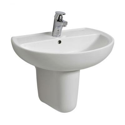 Koło Rekord umywalka 50x41 cm półokrągła biała K91150000