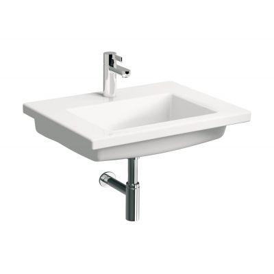 Koło Twins umywalka 60,2x46,1 cm z niskim rantem prostokątna biała L51960000