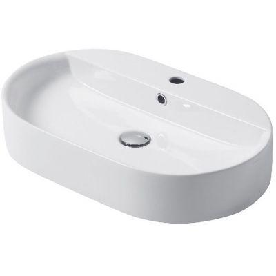 Kerasan umywalka 65x40 cm nablatowa owalna biały 028501
