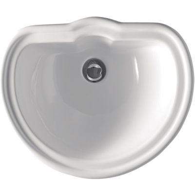 Kerasan Retro umywalka 50x41 cm wpuszczana w blat biała 103101