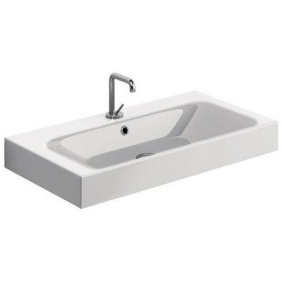 Kerasan Cento umywalka 80x45 cm prostokątna biała 353301