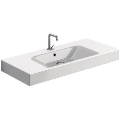 Kerasan Cento umywalka 100x45 cm prostokątna biała 355001