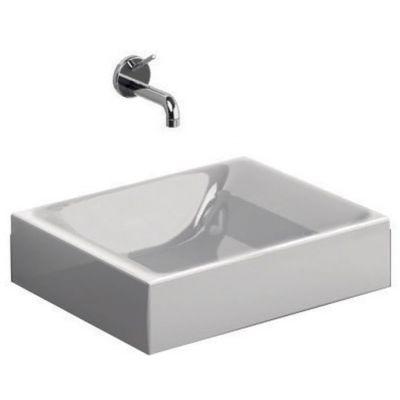 Kerasan Cento umywalka 40x35 cm prostokątna biała 355401