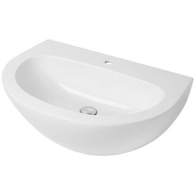 Kerasan Aquatech umywalka 70x52 cm wisząca półokrągła biała 374001