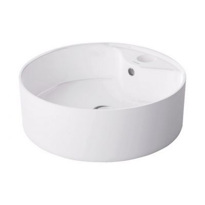 Massi Agio umywalka nablatowa 46 cm okrągła biała MSU-0006