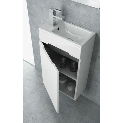 New Trendy Micra umywalka 40x22 cm meblowa prostokątna biała U-0089
